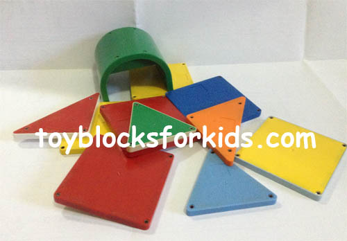 Colorful magnetic blocks for kids