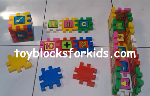 Blocks with bright colors