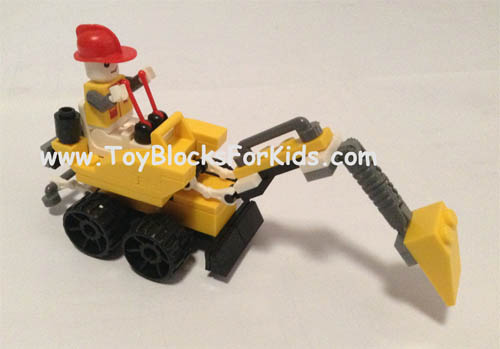 Backhoe with open cab